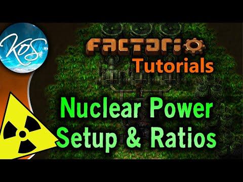 Factorio Tutorials 0.15 Nuclear Power Setup & Ratios Uranium processing Kovarex process