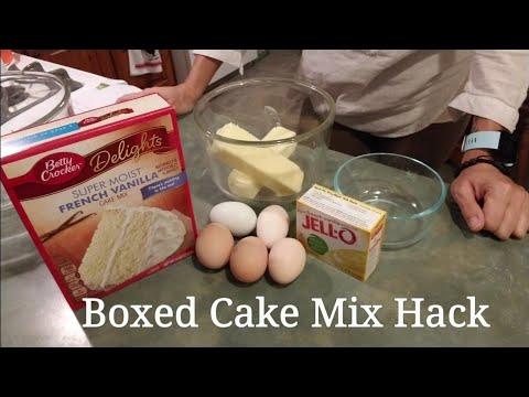 Boxed Cake Mix Hack better than bakery cake