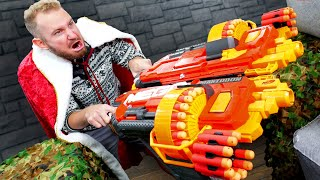 NERF Defend the Castle | Crate Destruction Challenge!