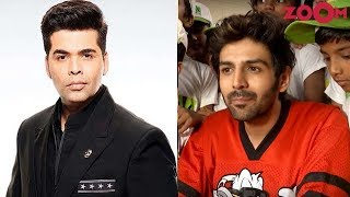 Kartik Aryaan REFUSES to speak about his film with Karan Johar | Bollywood News