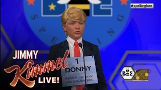 Little Trump Competes at National Spelling Bee
