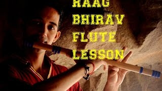 Raag bhairav on flute lesson tutorial bandish is easy but amazing to play must watch  in hindi