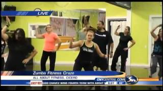 Brandon Roth does Zumba at All About Fitness in Cicero