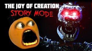 Joy of Creation: STORY MODE #1🍊👻😨  [Annoying Orange Plays]
