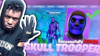 ANGRY KID CALLS POLICE FOR STEALING HIS PURPLE OG SKULL TROOPER! FORTNITE PRANK GONE WRONG!