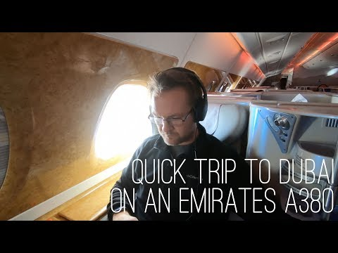 Attaché Travels Part 3 Dubai in Business Class on an Emirates A380