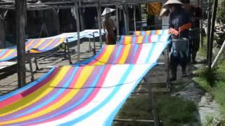 sarong tie dye process at balibeachweardotcom 1