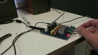 TPA3116D2 2.1 amp 1st test