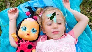Настя и Кукла Пупсик хотят спать! Видео для детей Nastya and baby doll want to sleep Video for kids