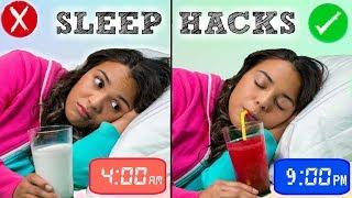 How to Fall Asleep FAST When You CAN'T Sleep! 10 Sleep Life Hacks!