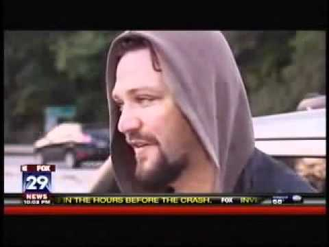 Bam Margera visits Ryan Dunns crash site