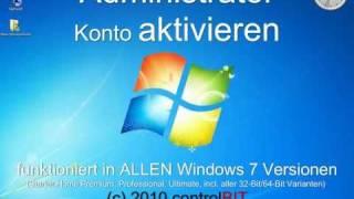 Windows 7 Administrator aktivieren in Home & Starter