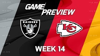 Oakland Raiders vs. Kansas City Chiefs   NFL Week 14 Game Preview   NFL Playbook