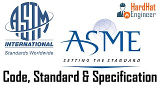What is the difference between Code, Standard & Specification?
