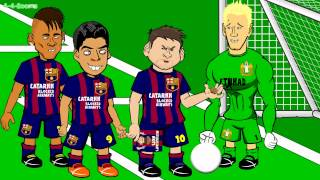 Lionel Messi's Nuts! Nutmegs Barcelona vs Man City and Joe Hart saves Champions League 1 0 2015
