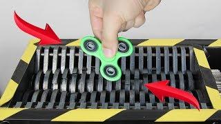 Experiment Shredding Fidget Spinner | The Crusher
