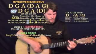 Messin Around (Pitbull) Guitar Lesson Chord Chart - D G A