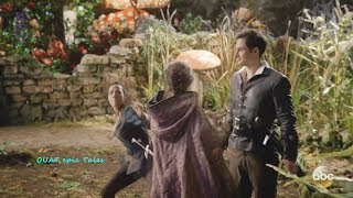 Once Upon A Time 7x08 Ella Punches Drizella & Saves Henry - They Kiss Season 7 Episode 8