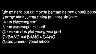 Big Bang - Bang Bang Bang Lyrics (Romanization)