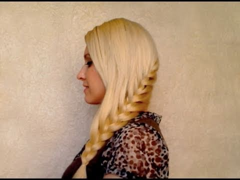 French braid tutorial: how to braid your own hair Everyday school hairstyle for long hair party 2012