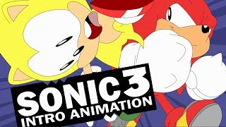 Sonic 3 Intro animada - Super Sonic x Knuckles