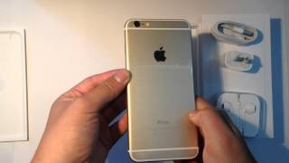 Apple iPhone 6 Plus Gold 128GB Unboxing and iPhone 5 Comparison - Launch Day