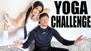 YOGA CHALLENGE WITH A RANDOM (hot) STRANGER