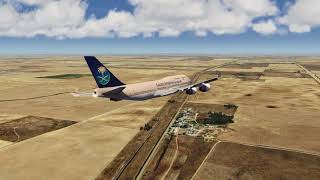 SAUDIA 747-400 Belly Crash Landing on Iran Highway ++ Aerofly FS 2