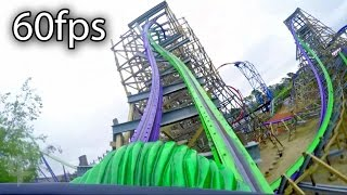 The Joker front seat on-ride HD POV @60fps Six Flags Discovery Kingdom