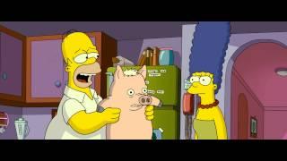 Spider Pig Marge and Homer Impression