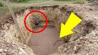 حفر هذا الرجل حفرة في فناء منزله وما فعله بها جعل جيرانه يغتاظون منه !!