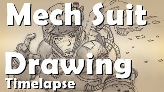 Mech Suit Drawing: Timelapse
