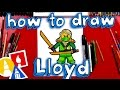 How To Draw Lloyd From Ninjago