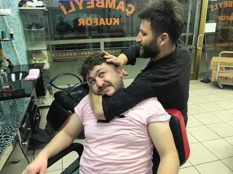 Xxx Mp4 ASMR Turkish Barber Massage Fast Finger SONER Vs Neck Crack MURAT 3gp Sex