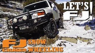 LET'S FJ! - FJ Cruisers Snow Wheeling on Rattlesnake Trail - Utah