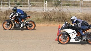 Drag Race Bangalore | Quarter mile | 2wheeler | Crash | GoPro