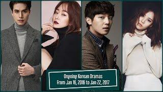 Ongoing Korean Dramas From Jan 16, 2017 to Jan 22, 2017