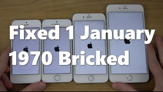 100% Fixed iPhone 5 & 6 January 1 1970 Brick Error using iOS 9.3 Beta 4 (13E5214d)