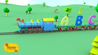 ABC song for kids ǀ Learn ABC with alphabet train ǀ 3D nursery rhymes ǀ popular children rhymes.