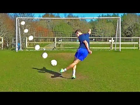 How To Shoot A Rabona Penalty Trickshot Soccer Tutorial