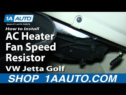 How To Install Replace AC Heater Fan Speed Resistor 1999-08 VW Jetta Golf and Beetle