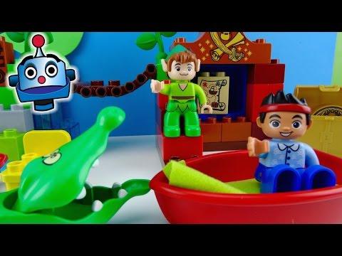 Peter Pan Jake y los Piratas LEGO La visita de Peter Pan Jake Peter Pan's visit Juguetes de Jake