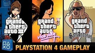 GTA 3, GTA Vice City & GTA San Andreas - PlayStation 4 Gameplay