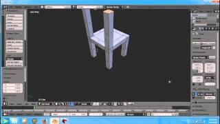 Tutorial Membuat Kursi Menggunakan Software Blender dengan mudah