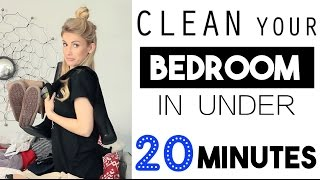 Clean Your Bedroom In LESS Than 20 Minutes!