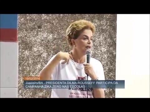 Dilma ensina que mosquito foi encontrado