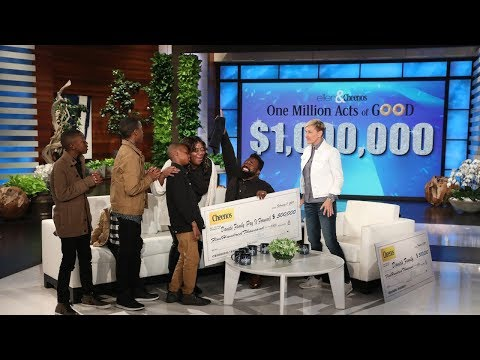 Extended Cut Ellen Gives a Deserving Family the Single Biggest Gift Ever