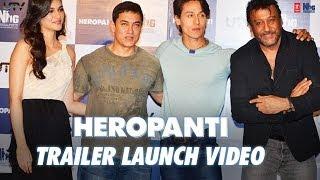 Heropanti - Official Trailer Launch By Aamir Khan | Tiger Shroff, Kriti Sanon