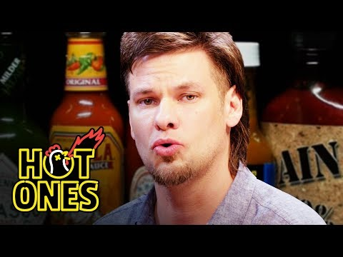 Theo Von Fights the Dark Arts While Eating Spicy Wings Hot Ones