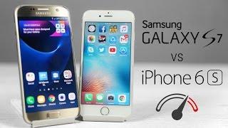 Galaxy S7 vs iPhone 6S - Speed Test Comparison